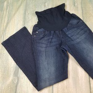 Denim - Maternity boot cut jeans with belly band